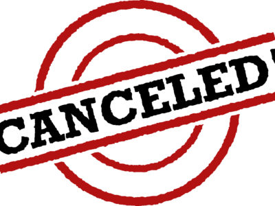 Activities Canceled – March 20 & 21