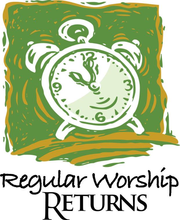 Regular Worship Times Return